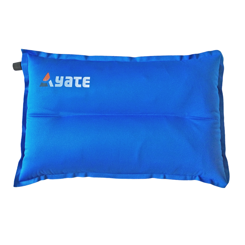 YATE Self-Inflating Pillow Shaped  L 43x26x9 cm Blue