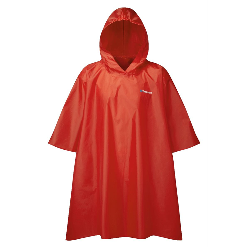 Trekmates Essential Poncho Raincoat Red