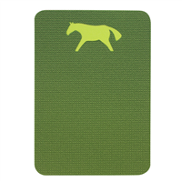 Seat mat horse 400x285x10mm light green / dark green