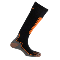 MUND SKIING OUTLAST Socks, Orange/Black