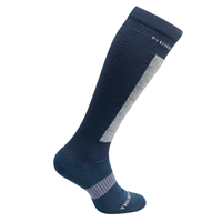 MUND CARVING Socks, Dark Blue