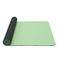 YATE Yoga Mat Double Layer TPE  Light Green/Dark Green