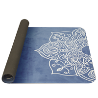 YATE Yoga Mat Natural Rubber -  model C  Blue