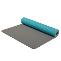 YATE Yoga Mat Double Layer TPE Turquoise/Grey