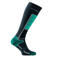MUND CARVING Socks, Turquoise/Dark Blue