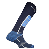 MUND CARVING Socks, Light Blue/Dark Blue