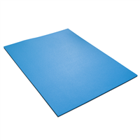 YATE FITNESS MAXI doublayer mat 12 - 95 x70x1,2 cm black/blue