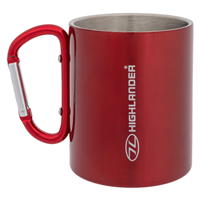 HIGHLANDER Karabiner Cup Stainless 300 ml - red