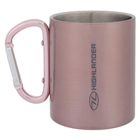 HIGHLANDER Karabiner Cup Stainless 300 ml - pink
