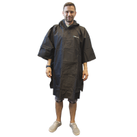 Trekmates Essential Poncho Raincoat Black